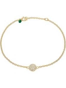 Enamel Bracelet, sparkling dot Guld m. chikorier-20