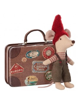 Maileg Christmas Mouse in travel suitcase-20