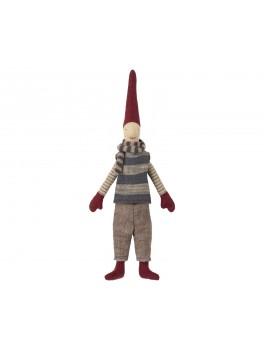 Maileg Climbing dreng med blåstribet tørklæde Mini-20