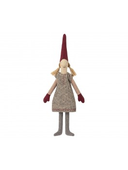 Maileg Climbing pige med blomstret kjole Mini-20