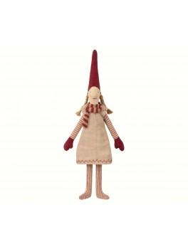 Maileg Climbing pige med rødstribet tørklæde Mini-20