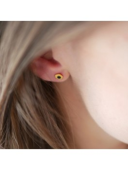 Enamel Dehli, stud ørering clementine-20