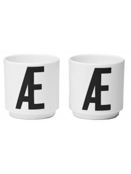 Design Letters + Arne Jacobsen 2 Æggebæger - Æ for Æg.