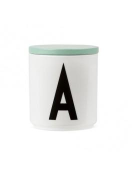 Design Letters - Låg t. porcelænskop - Grøn