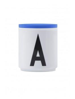 Design Letters - Låg t. porcelænskop - Blå