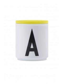 Design Letters - Låg t. porcelænskop - Gul