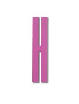 Design Letters - Bogstav - H - Pink