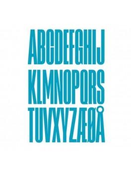 Design Letters - Bogstav - S - Turkis