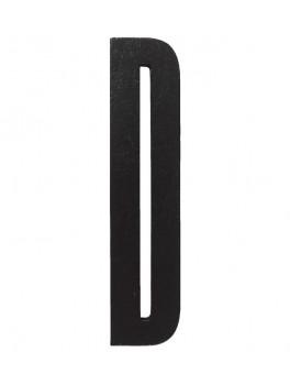 Design Letters - Bogstav D - Sort