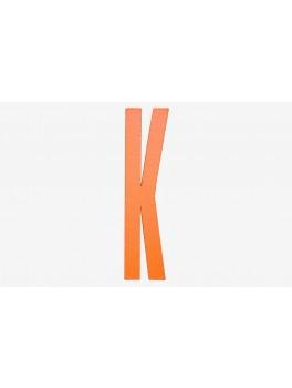 Design Letters - Bogstav - K - Orange