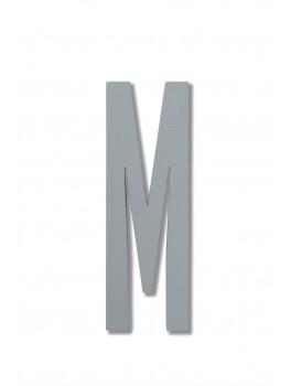Design Letters - Bogstav - M - Grå