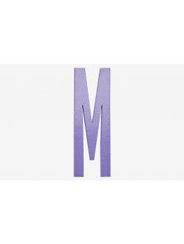 Design Letters - Bogstav - M - Lilla