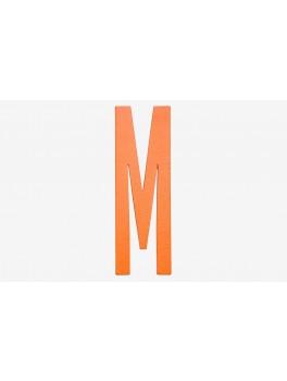 Design Letters - Bogstav - M - Orange