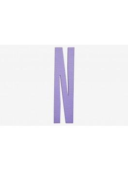 Design Letters - Bogstav - N - Lilla
