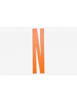 Design Letters - Bogstav - N - Orange