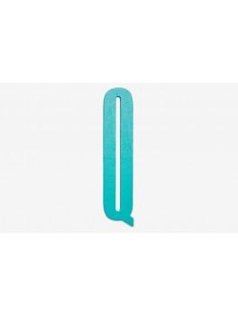 Design Letters - Bogstav - Q - Turkis