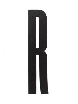 Design Letters - Bogstav - R - Sort