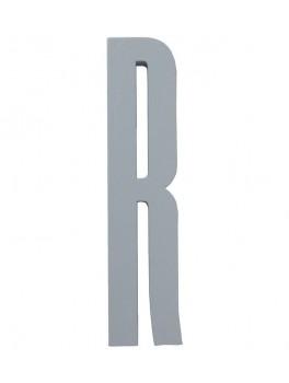 Design Letters - Bogstav - R - Grå