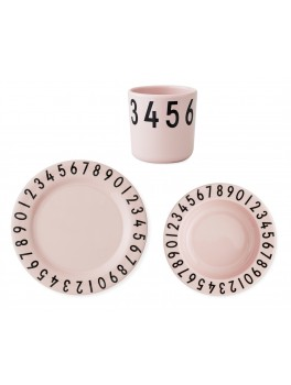 Design Letters - Melamine 'The numbers' - Pink