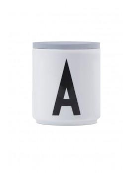 Design Letters - Låg t. porcelænskop - Grå
