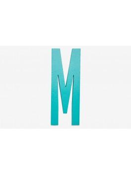 Design Letters - Bogstav - M - Turkis