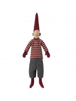 Maileg Mini Pixy Dreng rødskribet sweater-20