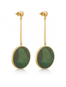 Enamel Malachite Earring Grøn-20