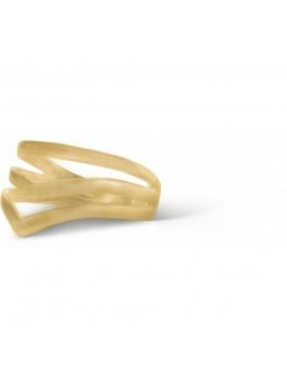 Enamel V-shape ring Guld-20