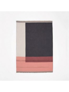 Ferm Living Colour Block Throw bordeaux-20