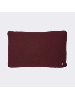 Ferm Living Quilt Cushion bordeaux-20