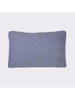 Ferm Living Quilt Cushion lys blå-20