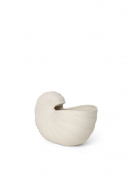 Ferm Living Shell Pot Råhvid-20