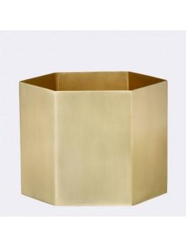 Ferm Hexagon Pot XL messing-20