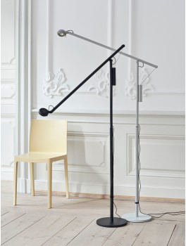 Hay Fifty-Fifty Floor Lamp, Soft Black-20