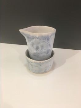 Bjarni Sigurdsson Fløde/sukkersæt, lys blå m. nister (BS33)-20