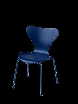 Fritz Hansen Serie 7 Børnestol blå-20