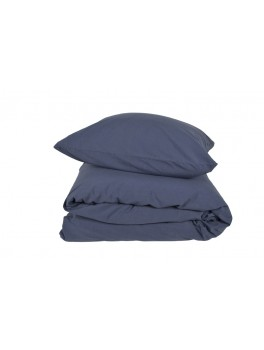 Gartex Stone sengetøj Navy Blue 100% bomuld stonewash 140x200-20