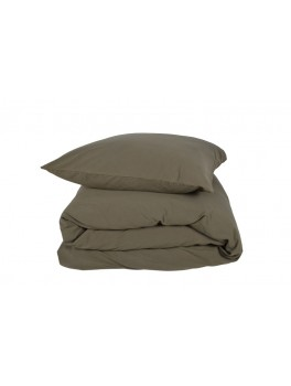 Gartex Stone sengetøj Olivengrøn 100% bomuld stonewash 140x200-20