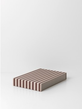 Ferm living Striped Box Rectangle Bordeux/rose-20