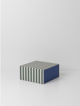 Ferm Living Striped box Green/off-white-20