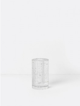 Ferm Living Bubble Glass Object Cylinder Klar glas-20