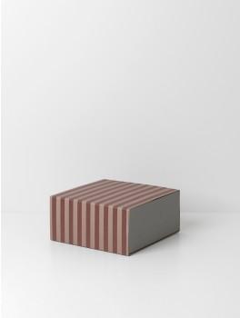 Ferm Living . Striped Box Square Bordeux/rose-20