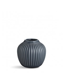 Kähler Hammershøi vase (lille) Antracit grå-20