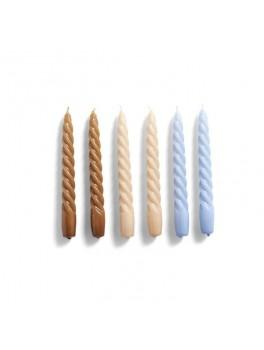 Hay Candle Twist 6 pk. Caramel/Peach/Lavender-20