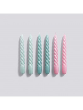 Hay Candle Twist 6 pk Arctic Blue/Teal/pink-20