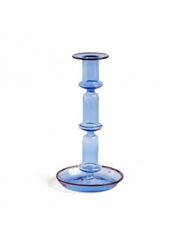 Hay - Flare Lysestage - Light Blue w ed rim