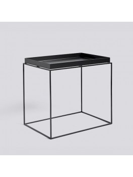 Hay Tray table, side table rectangle black-20