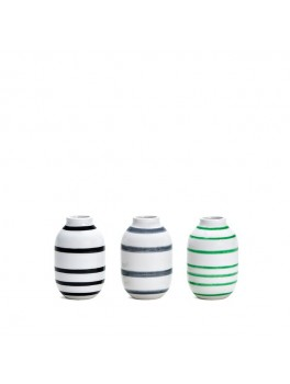 Kähler Omaggio mini vaser 3-pak (Sort/Grå/Grøn)-20