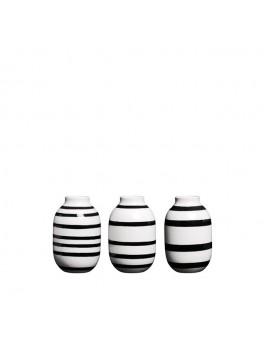 Kähler Omaggio mini vaser 3-pak (Sort)-20