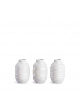 Kähler Omaggio Mini vaser 3-pak (Perlemor)-20